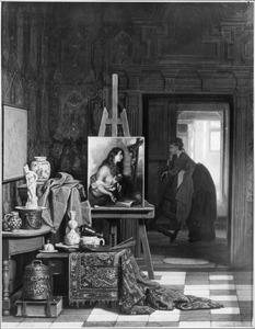 Atelier van een schilder