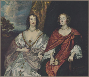 Dubbelportret van twee vrouwen, mogelijk Anne Killigrew (1607-1641) en Charlotte de la Trémoïlle, Lady Strange, later Countess of Derby (1599-1664)