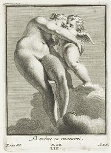 Venus en Amor, in verkort perspectief (pl. LIII)