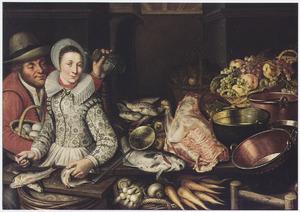 Keukenstilleven met twee figuren