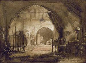 Het atelier van Marius Bauer in Aerdenhout