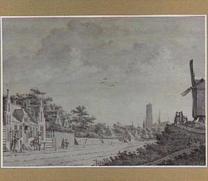 Mechelen, op de achtergrond de Sint-Romboutskathedraal
