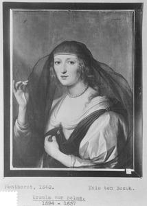 Portret van een vrouw, mogelijk Johanna van Hanau (1610-?)