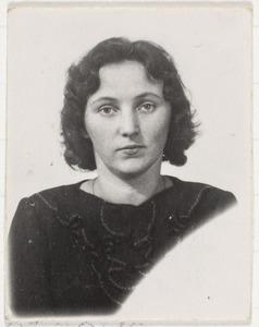 Portret van Irina Linnik-Kusnetzowa
