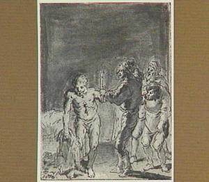 Lazarillo blijkt in de herberg van zijn kleren te zijn beroofd (Lazarillo de Tormes dl. 2, cap. 2, p. 63)