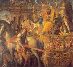De overwinningen van Caesar: 9 Julius Caesar op zijn zegekar