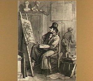Portret van de kunstenaar Jacob van Strij (1756-1815)