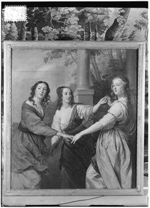 De drie gratiën, mogelijk de dochters van Adam van Lockhorst van ter Meer
