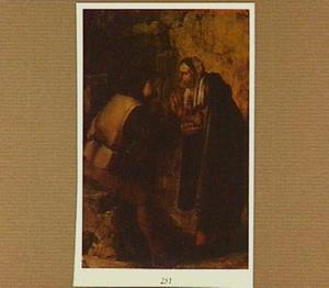 Zigeunerin die een reiziger de hand leest