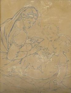 Maria met kind en Johannes