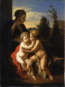 Maria met het kindje Jezus en de kleine Johannes