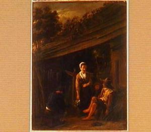Drie figuren voor een boerenwoning