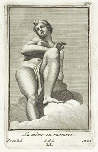Hesione, aan de rots geketend, in verkort perspectief (pl. LI)