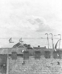Daken met uitzicht op zee