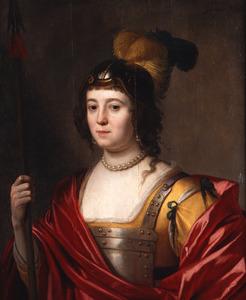 Portret van Charlotte de la Trémoille (?-1664) of Amalia van Solms (1602-1675) als Minerva
