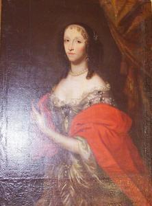 Portret van Ludmilla Magdalena van Oppersdorf