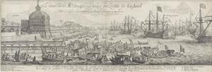 Inscheping van Catharina van Braganza te Lissabon