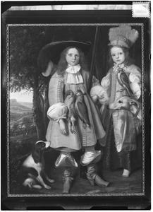 Dubbelportret van twee jongens, mogelijk Abraham van Gerwen (1655-....) en Dammas van Gerwen (1656-1729)