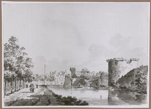De stadsmuur van Utrecht met waltoren Het Paard en bastion Morgenster
