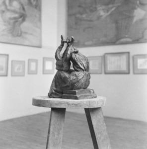 Het atelier van Antoine Bourdelle met een brons van Sappho