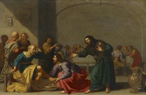 Christus wast de voeten van Petrus