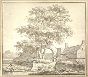 Harderwijk, gezicht op de Groote Poort anno 1785
