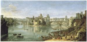 Gezicht op de Tiber in Rome