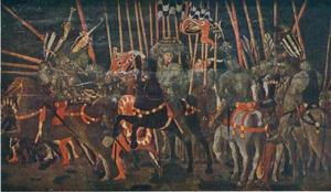 Micheletto da Cotignola in de verpletterende slag bij San Romano