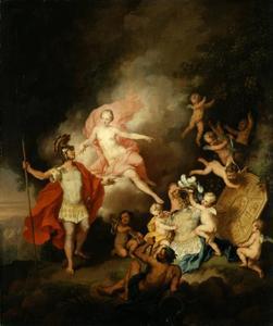Venus overhandigt Aeneas de door Vulcanus gesmede wapenrusting