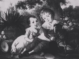 Dubbelportret van Wilhelmus Josephus Bertramus Hubertus van Willigen (1789-....) en Johannes Franciscus van Willigen (1787-....)