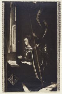 Koningin Margaretha van Denemarken met de Heilige Joris
