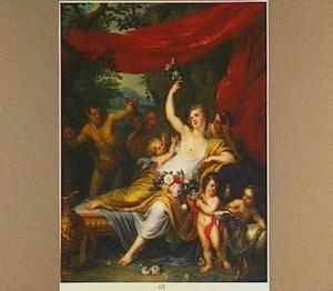 Venus omringd door bedienden