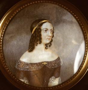 Portret van Christine Caroline F. Rambonnet (1807-1890)