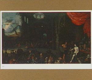 Venus ontvangt de wapens van Aeneas in de smidse van Vulcanus