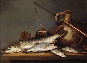 Stilleven met riviervis