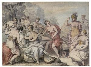 Minerva en de muzen