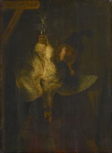 Zelfportret met roerdomp