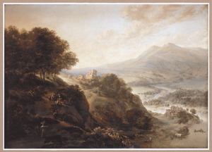 Weids berglandschap met rivier