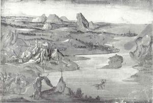 Landschap met de H. Christoffel