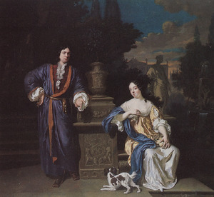 Portret van een man en een vrouw