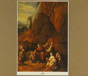 Mozes stelt ten overstaan van de priester Eleazar Jozua aan als zijn opvolger (Numeri 27:22)