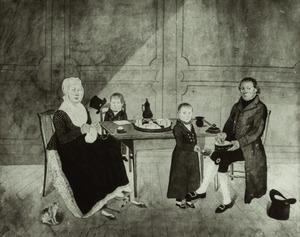 Portret van de familie van Barend van den Bosch (....-1839)