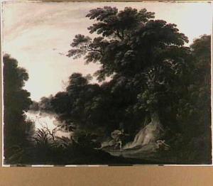 Boslandschap met Cephalus en Procris
