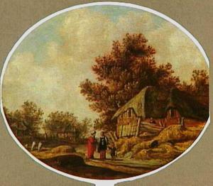 Landschap met de wegzending van Hagar en Ismaël (Genesis 21:18-21)