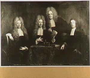 Regenten van het Walenweeshuis te Amsterdam, 1709