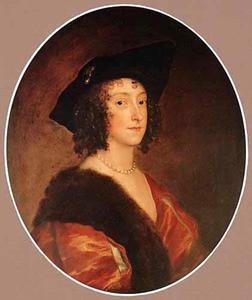Portret van Katherine Wotton, Lady Stanhope, Countess of Chesterfield (1609-1667)