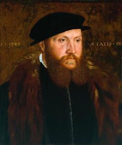 Portret van een man met een zwarte pet