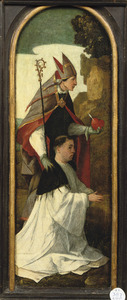 De H. Augustinus met een onbekende stichter