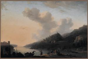 Zuidelijk kustlandschap met vissers