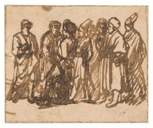 Een groep van staande figuren